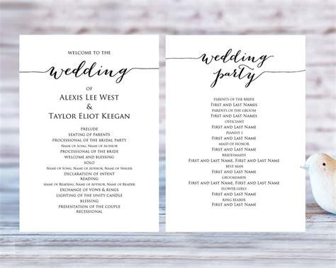 catholic wedding mass program template awesome stunning basic