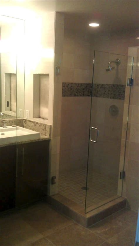 Installing Frameless Shower Door Frameless Shower Doors Patriot Glass And Mirror San Diego Ca