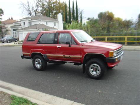 Toyota 4runner 4wd 1986 Toyota 4runner 4wd 1987 1988 1989 22re Engine