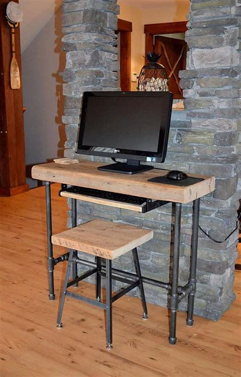 commercial office computer desk small urban wood laptop computer desk reclaimed wood w