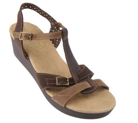 skechers wedge sandals skechers leather t low wedge sandals page 1 qvc