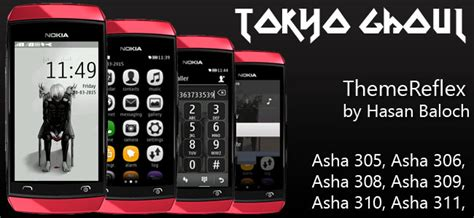 god themes for nokia asha 305 tokyo ghoul theme for nokia asha 305 asha 308 asha 309