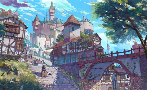 anime village wallpaper village castle wallpaper no 148322 wallhaven cc