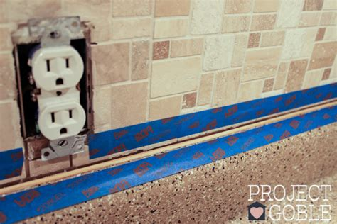 caulking kitchen backsplash how to install a peel stick mosaic tile kitchen backsplash project goble