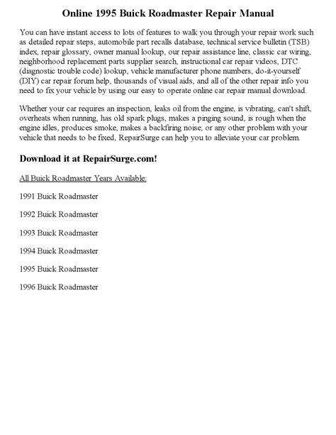 small engine repair manuals free download 1995 buick century spare parts catalogs 1995 buick roadmaster repair manual online by edward issuu
