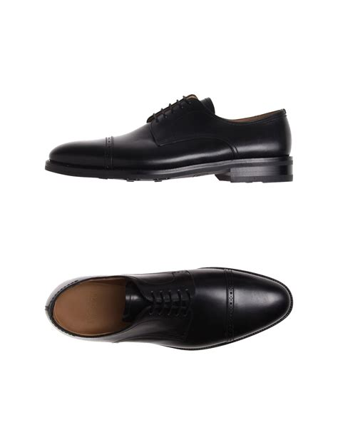 bally lace up shoes in black for lyst