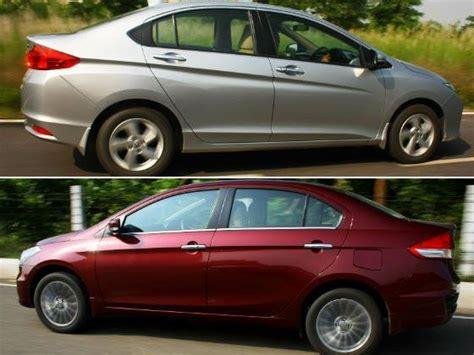 honda ciaz images maruti ciaz vs honda city petrol comparison review