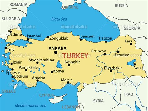 turkey vector map republic of turkey vector map
