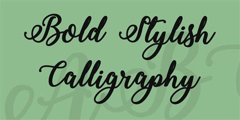 calligraphy font bold stylish calligraphy font 183 1001 fonts