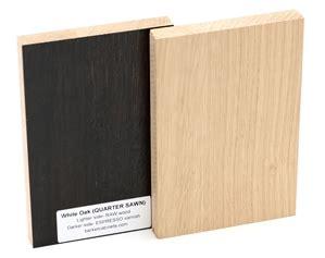 white oak quarter sawn wood sample