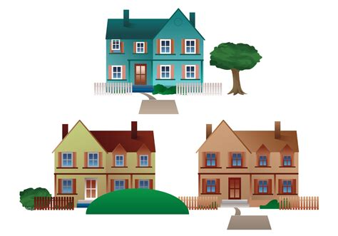 residential town houses vector