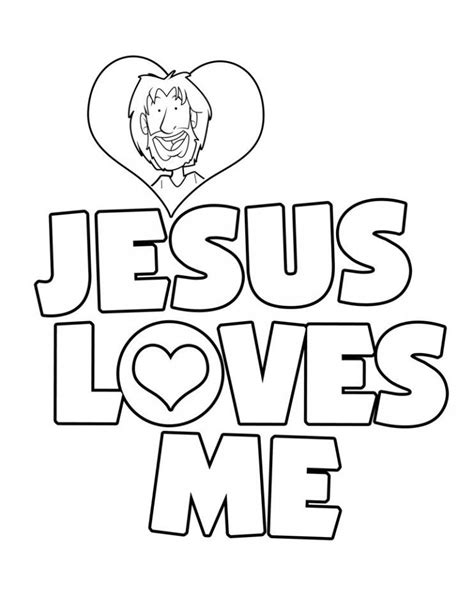 Jesus Loves Me Coloring Pages For Toddlers | jesus loves me coloring page az coloring pages