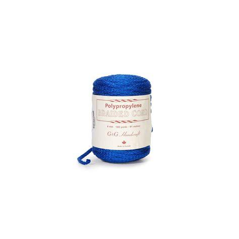 6mm Braided Macrame Cord - braided cord macram 233 6mm blue x 91 m perles co