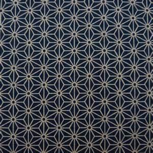 tissu bleu fonc 233 motif asanoha couleurs japon
