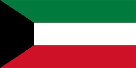 kuwait flag coloring country flags