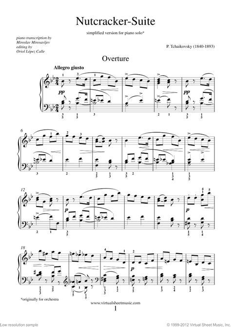 keyboard tutorial nutcracker nutcracker piano sheet music easy for beginners