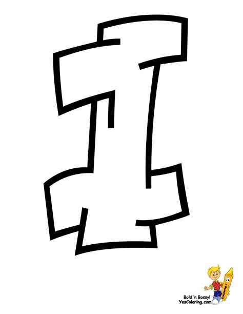 cool l the letter l in graffiti coloring pages