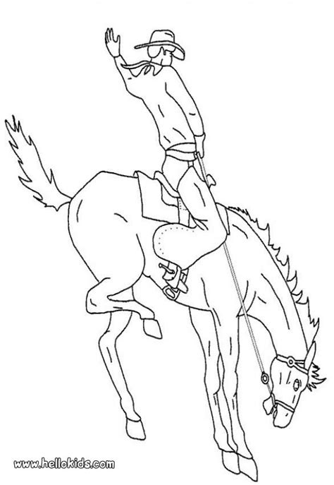 Rodeo Bronco Coloring Sheet Coloring Pages Rodeo Coloring Pages
