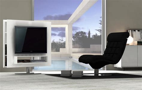 Kitchen Tables Designs by Ultra Contemporary White High Gloss Swivel Tv