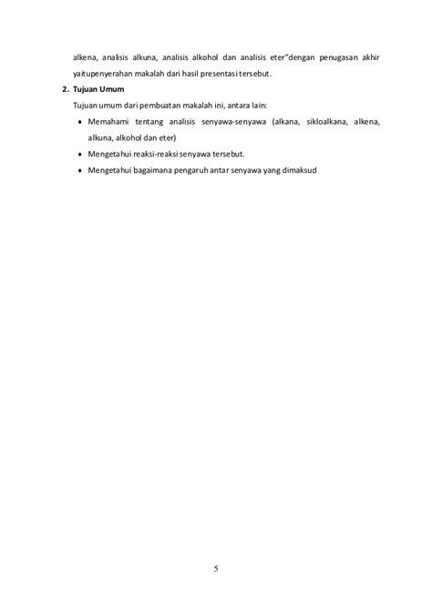 analisis senyawa alkana sikloalkana alkena alkuna
