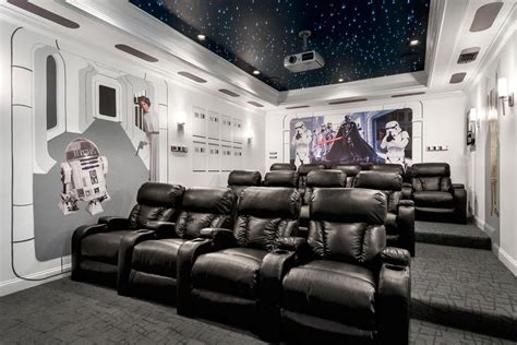 star wars themed room pics of the best star wars inspired home theaters