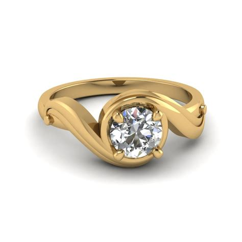 Yellow Gold Solitaire Engagement Rings And by Tension Set Solitaire Engagement Ring In 18k White Gold