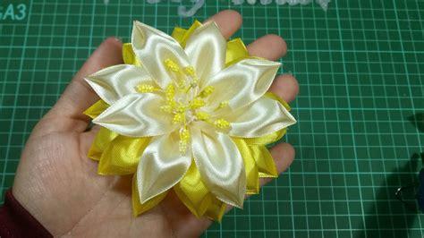 tutorial bunga kanzashi flanel 98 tutorial bunga kanzashi kanzashi flower youtube