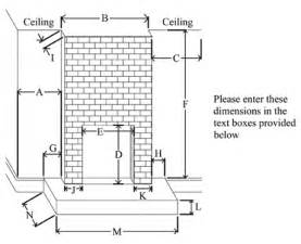 outdoor fireplace dimensions