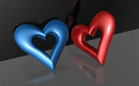 3d hearts free wallpapers free 3d wallpapers