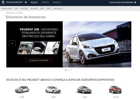 peugeot website peugeot lan 231 a site exclusivo para acess 243 rios autos segredos