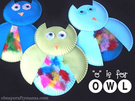 Owl Paper Plate Craft - paper plate owl craft images