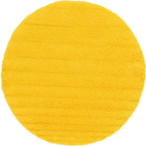 tuscan yellow unique loom solid shag tuscan sun yellow 8 ft 2 in x 8