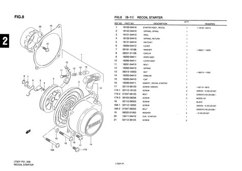 Suzuki Lt50 Parts Uk Genuine Suzuki Lt50 Mini Atv Recoil Starter Starter