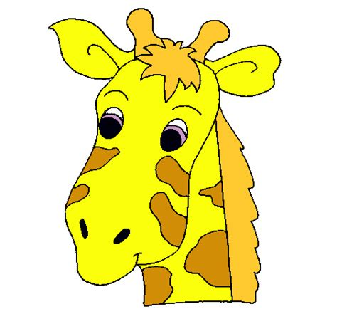 Imagenes De Jirafas Animadas Solo La Cara | dibujo de cara de jirafa pintado por adios en dibujos net