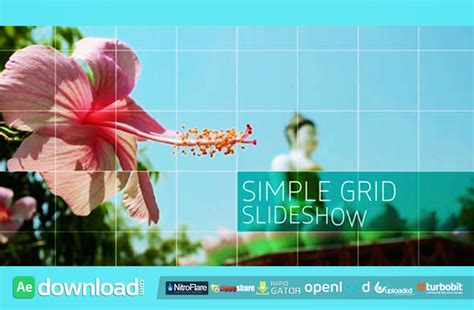 Simple Grid Slideshow Free Download Videohive Project Free After Effects Template Videohive After Effects Simple Slideshow Template Free