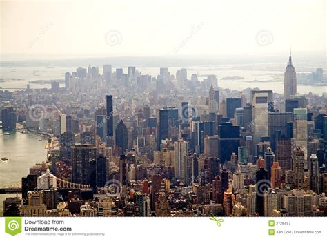hazy  york city skyline stock image image  skyline