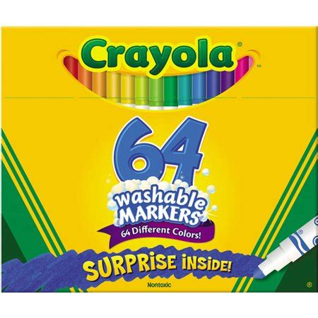 crayola 64 colors crayola washable pip squeaks skinnies markers 64 colors