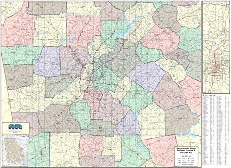 city of atlanta zip code map atlanta region zip wall map