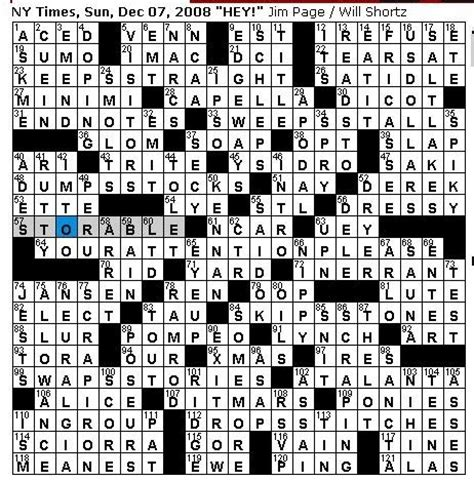 section of a play crossword clue rex parker does the nyt crossword puzzle sunday dec 7