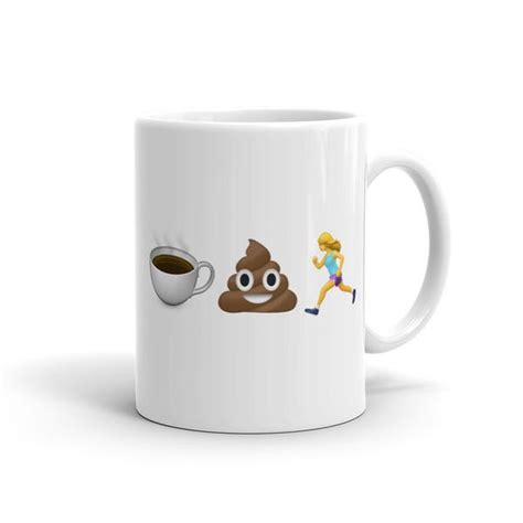 mug design studio coffee poop runner girl new emoji mug sarah marie