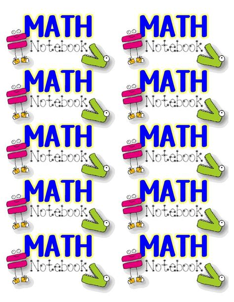 printable math journal labels 548 best images about math ideas on pinterest