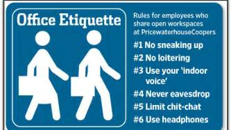 Office Space Etiquette Analysis Pwc S Open Workspace Etiquette Going Concern
