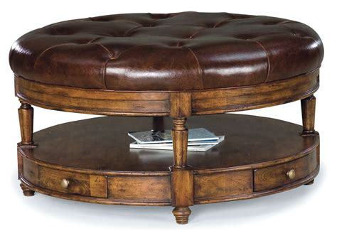 Tufted Ottoman With Shelf Tufted Leather Ottoman With Optional Shelf Home Design Ideas