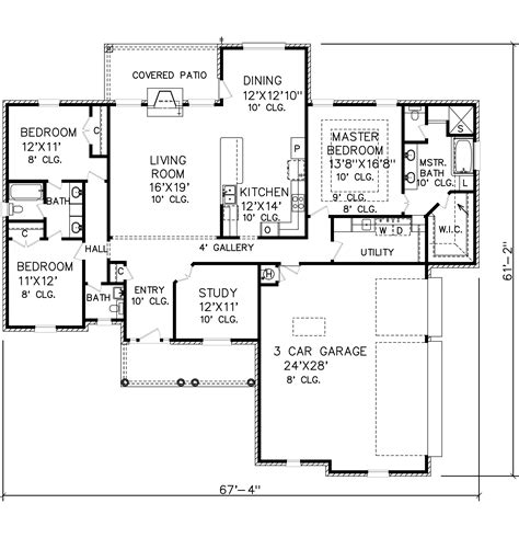 perry home plans floor plan 6168