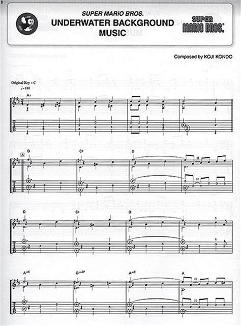 tutorial guitar mario bros super mario songbooks