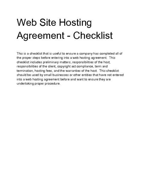 website user agreement template web hosting agreement template 28 images website