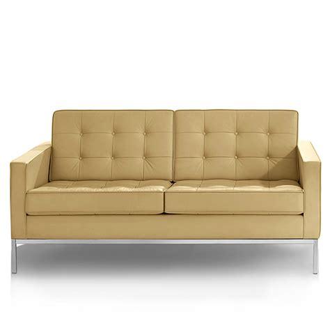 knoll leather sofa knoll florence knoll 2 seat sofa leather