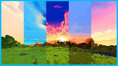 best texture packs minecraft minecraft top 5 custom sky resource packs clouds and