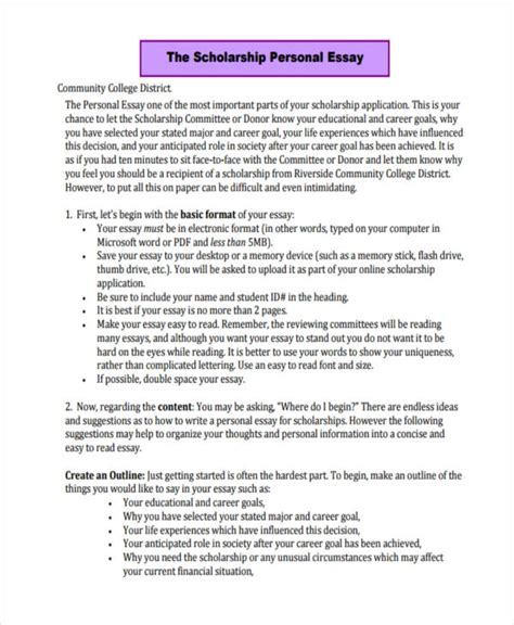 College Essay Structure by Personal Essay For Scholarship Exles Image Titled Write A Financial Aid Statement Step 6