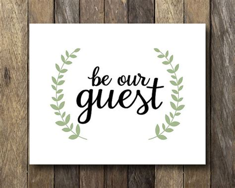 Be Our Guest by Be Our Guest Guest Room Wall Instant Guest